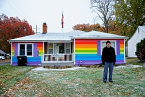 Zach Phelps-Roper outside the rainbow house across the street from the Westboro Baptist church. Zach Phelps-Roper, a grandson of Fred Phelps, is the fourth Phelps-Roper sibling to reject the WBC.