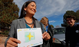 Deb Haaland, who is favored to win her House race in New Mexico, may become the first Native American woman in Congress.