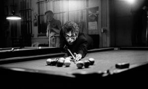 Bob Dylan At a pool hall in Kingston, New York, December 1964