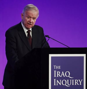 Sir John Chilcot presents his report into the Iraq war on 6 July.