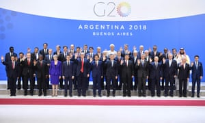The 'family photo' - of the participants of the G20 Leaders' Summit in Buenos Aires