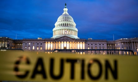 The US Capitol on the first morning of a partial government shutdown.