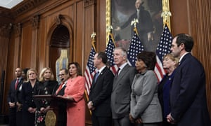 Pelosi spoke before signing the resolution to transmit the two articles of impeachment against President Donald Trump to the Senate for trial.