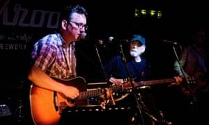 Richard Hawley performing at Greystones pub Sheffield, UK