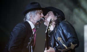 Pete Doherty and Carl Barât of the Libertines in Glasgow on Thursday.
