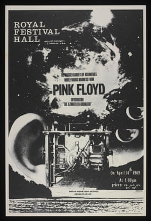 Poster Advertising Pink Floyd At The Royal Festival Hall London 14 April 1969