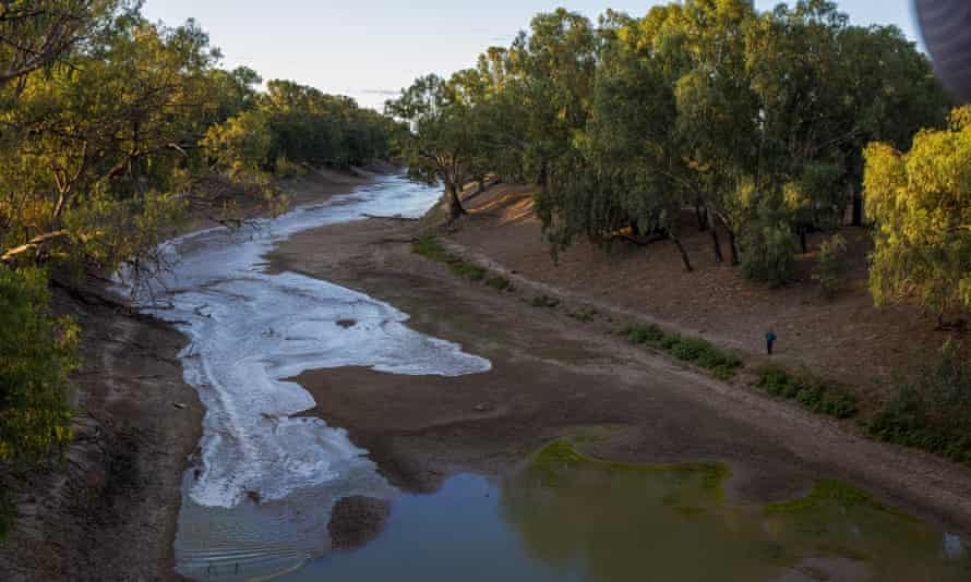 File photo of the Darling River at Louth, New South Wales