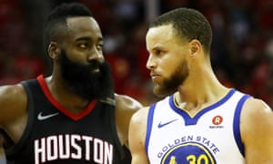 Stephen Curry and James Harden are battling for a place in the NBA finals
