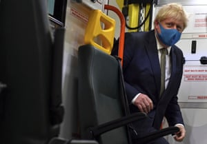 Boris Johnson … leering.