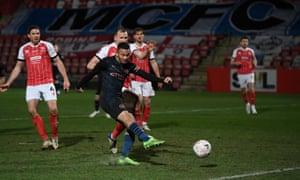 Gabriel Jesus fires Manchester City ahead.