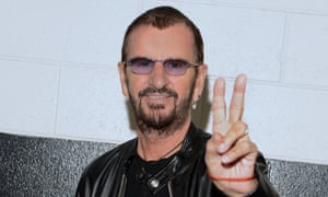 Ringo Starr ... 'Giving the peace sign on camera is a little like tattooing your pin number right across your face.'