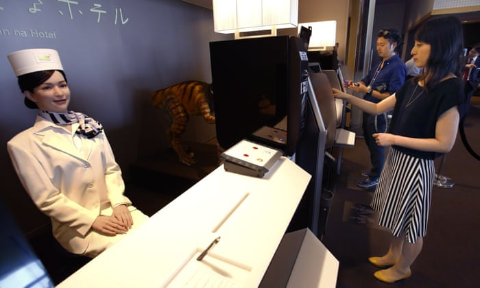 Japan S Robot Hotel A Dinosaur At Reception A Machine For Room