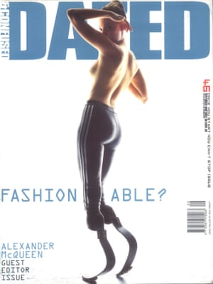 Model Aimee Mullins on the cover of Dazed & Confused, 1998