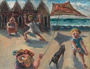 Kite Flyers (South Melbourne) (1943) by Arthur Boyd