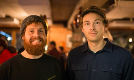 Alpine brewers Matthew Stone (left) and Chrigl Luthy