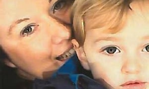 File photo of Rebecca Minnock and her three-year-old son Ethan.