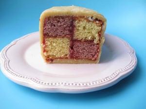 Doing Alan Bennett proud ... the perfect battenberg cake.