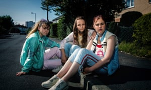 Liv Hill, Molly Windsor and Ria Zmitrowicz in Three Girls.