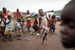 Displaced children in Mwaka village, Tanganyika province