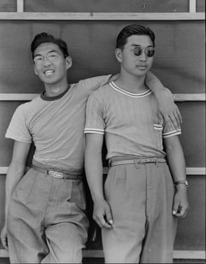 Sacramento, California, 1942. College students of Japanese ancestry who have been evacuated from Sacramento to the Assembly Center.