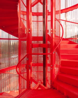 Makes you long for an emergency drill … MK Gallery's stairwell.
