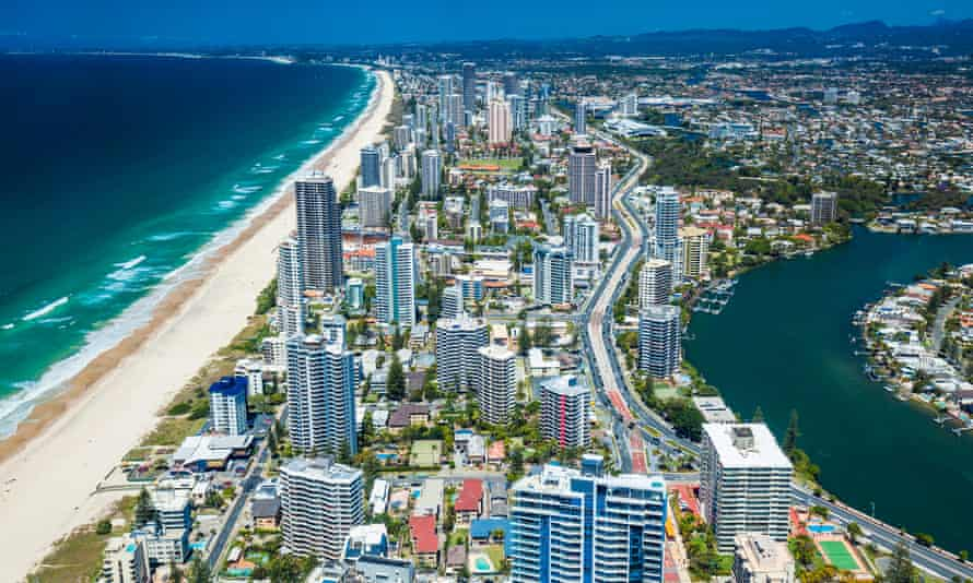 Aerial view of the Gold Coast in Queensland, Australia