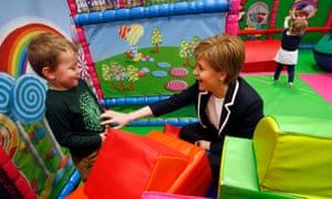 Nicola Sturgeon at Glasgow play centre