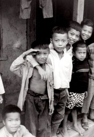 Steve Maddox - child saluting at An Ninh, Ninh-Thuan Province. Served 1968-69