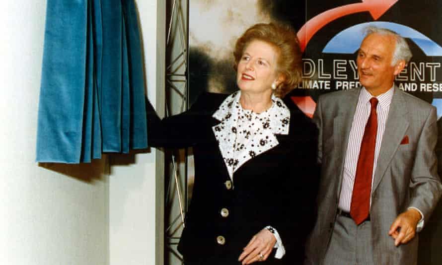 Margaret Thatcher with Sir John Houghton