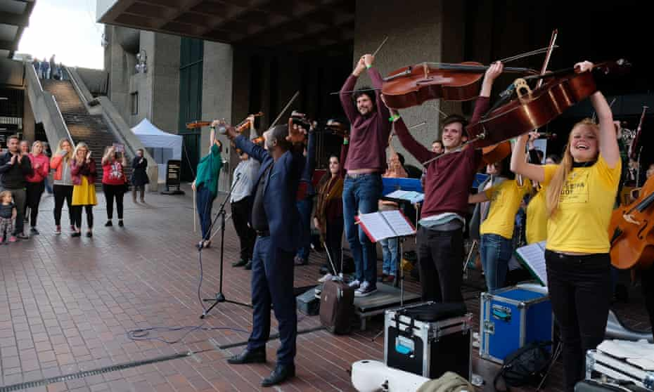 The 'truly uplifting' Street Orchestra of London at the Barbican.
