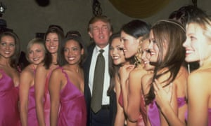 Donald Trump with Miss USA delegates in 2000.