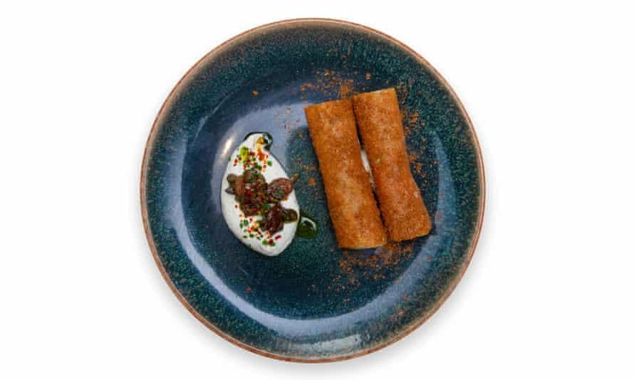'Fried to crisp': lamb shoulder 'cigars'.