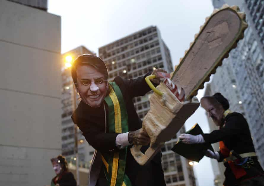 Protesters rally in Rio de Janeiro in defence of the Amazon