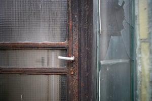 Broken windows and rusted doors at the Rattersdorf building
