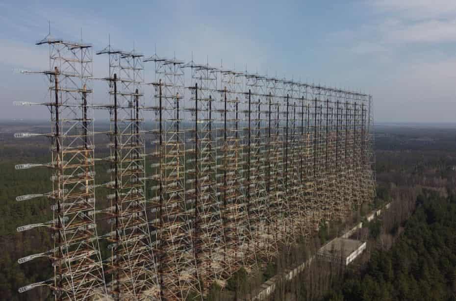A Soviet-made radar system near Chernobyl.