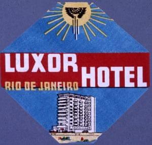 A Luxor hotel luggage tag.