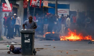 Many of the Masiphumelele residents clashed with the authorities