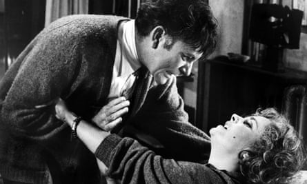 Richard Burton and Elizabeth Taylor in the film of Who's Afraid of Virginia Woolf?, directed by Mike Nichols in 1966