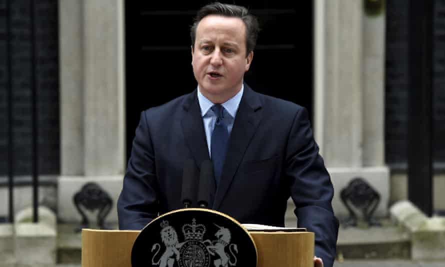 David Cameron speaks outside No 10 after announcing that he would hold a referendum on Britain's membership of the EU