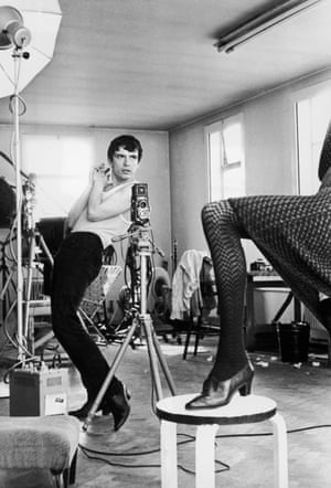 British photographer David Bailey gives instructions to model Jean Shrimpton, 1964.