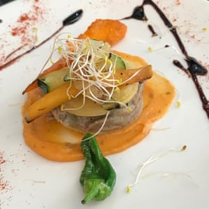 Vegetarian tapas at Tito's City, Almeria, Spain.