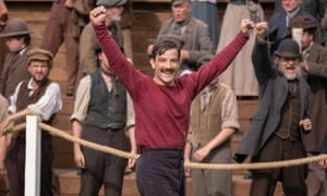 Kevin Guthrie as Fergus Suter in The English Game, the new series on Netflix from Julian Fellowes, the creator of Downton Abbey