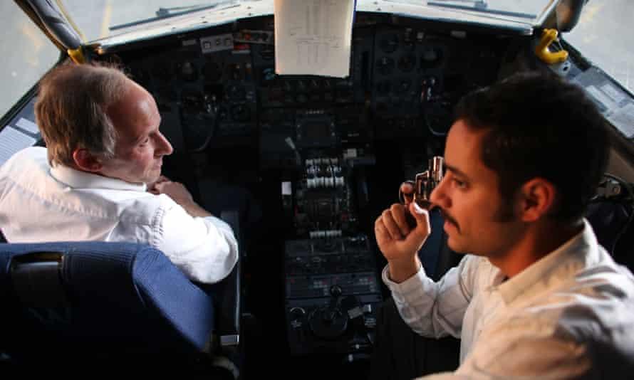 A cockpit scene from Sabena.