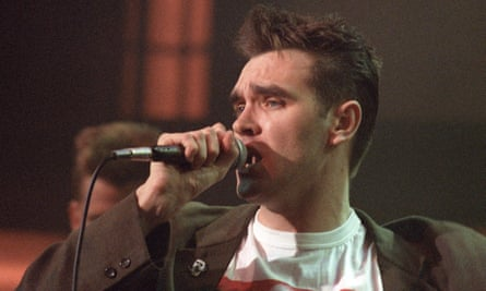 Morrissey appearing on 'The Tube'.