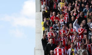 Stoke City fans watch on from the edge of a stand back in 2009.