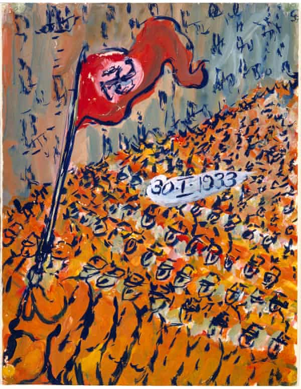 Rise of the Nazis … a parade on the day Hitler became German chancellor.