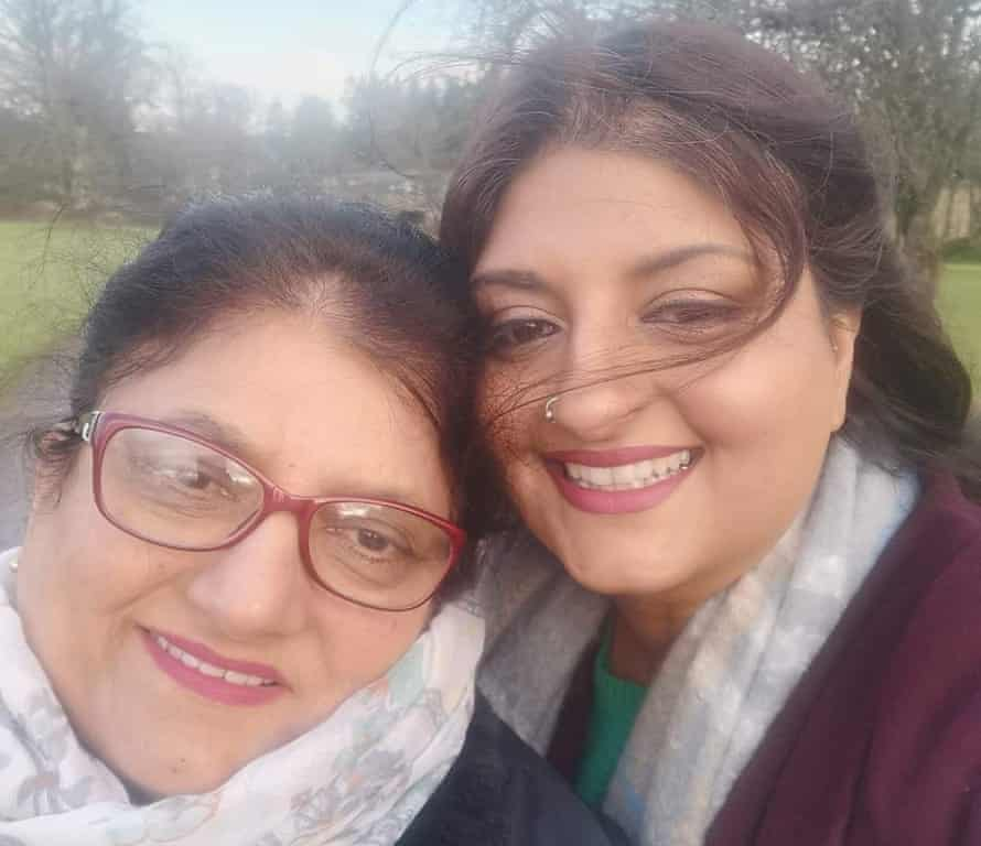 Gurcharan Virdee with her mother, Narinder