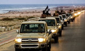 Isis members in Libya's coastal city of Sirte