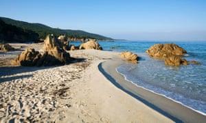France, Corse du Sud, north of Propriano, Cupabia Beach