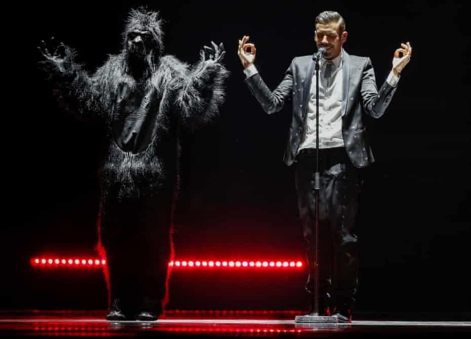 Even more topical than Lucie Jones … Francesco Gabbani's Occidentali Karma for the win!
